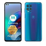 Motorola moto g100 (6,7' - Display, 64-MP-Kamera, 8/128 GB, 5000 mAh, Android 11) Blau, inkl. Docking-Station + TV-Now-Gutschein [Exkl. bei Amazon]