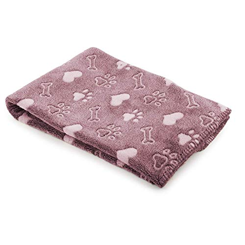 Ancol Sleepy Paws Chien et Chat Doudou, Rose