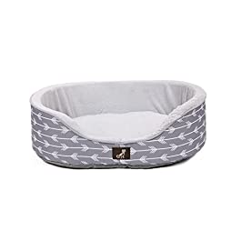 AllPetSolutions Bella Collection of Warm Dog Bed with Reversible Cushion Washable