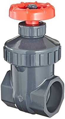 "Spears PVC Gate Valve, Non-Rising Stem, Viton O-Ring, 1-1/4"" Socket from Spears Manufacturing"