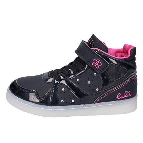 LULU' Sneaker Bambina Pelle Sintetica Nero 27 EU