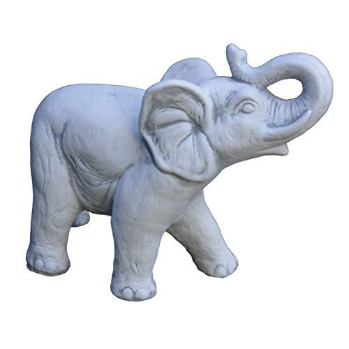 gartendekoparadies.de Massive Steinfigur Elefant aus Steinguss frostfest
