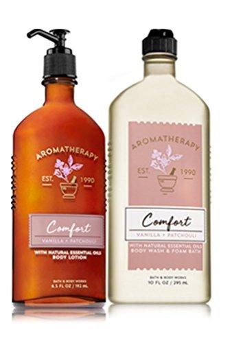 Bath & Body Works COMFORT - Vanilla & Patchouli Body Wash & Foam Bath and Lotion Set
