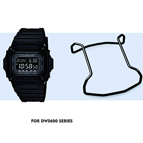 Supachis Watch Screen Protectors, Wire Watch Guard Protector for DW-5600 / GW5000 / GW5030 / GW5035, 100% Metal 316 Stainless Steel Bull Bar, Black