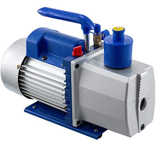 Bestauto Vacuum Pump 6CFM Dual Stage Refrigerant Vacuum Pump 1/2 HP HVAC Rotary Auto Refrigerant Vacuum Pump, Air Conditioner Refrigerant HVAC Air Tool for Automobile Reparation Vacuum Evacuation