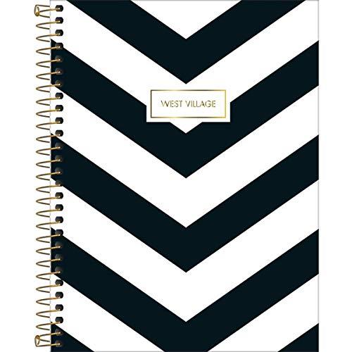 Caderno de 10 Matérias Capa Dura, Pacote com 4 Cadernos, 160 Folhas, Cores Sortidas, Tilibra, Modelo 23.558