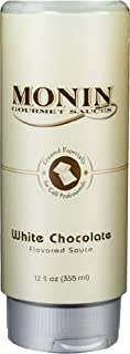Monin Gourmet White Chocolate Sauce, 12 oz Squeeze Bottle