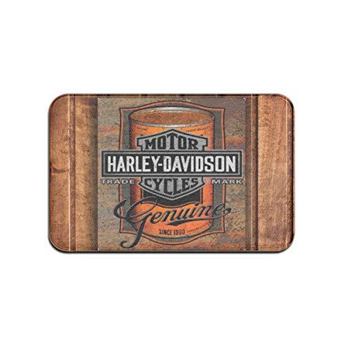 Zerbino per Harley Davidson Welcome antiscivolo per ingresso esterno/interno, resistente e impermeabile, lavabile in lavatrice, 60 x 40 cm