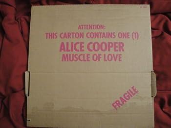 Alice Cooper Muscle of Love  Cardboard Box Cover Drunken Sailor Sleeve 1973 Warner Bros Burbank Palm Tree Label BS-2748 Vinyl Lp Record Album Ex