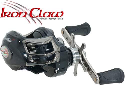IronClaw Econ Cast LH - Baitcaster Rolle zum Spinnfischen auf Hechte & Zander, Multirolle zum Spinnangeln, Spinnrolle, Hechtrolle