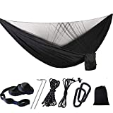 Hamacas Promotion—1-2 Portable Person Camping Outdoor Hammock with Mosquito Net Swing Sleeping Lightweight Travel Bed For Hiking Camp,Black Nisi Spinning