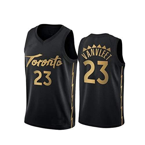JNTM NBA Sport degli Uomini della Maglia Toronto Raptors Fred Vanvleet # 23 Fan Maglia Traspirante Atletica Estate Slacciano Tee S-XXL Black-L