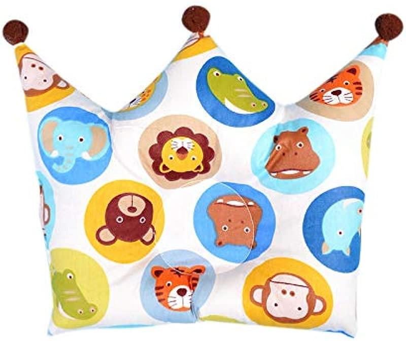 Newborn Crib Infant Support Organic Cotton Head Shaping Flat Head Memory Foam Sleep Baby Head Pillow Animal Print
