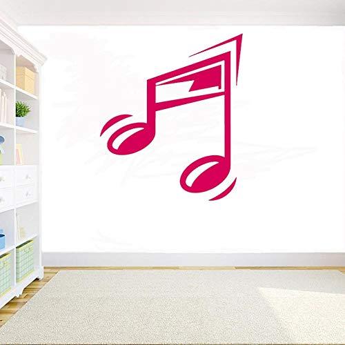 Muurstickers, decoratie, kamer, vinyl, wandtattoo, muziek, muzieknoten, zelfklevend, knutselen, gitaar, muziek, koptelefoon, zelfklevend