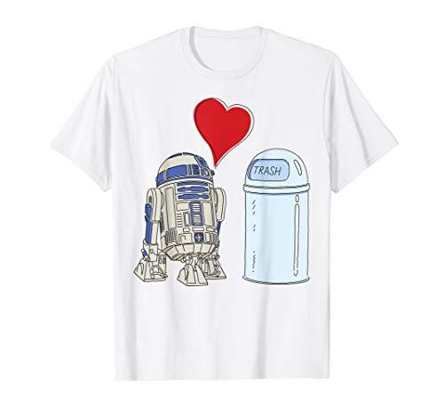 Star Wars R2-D2 Loves Trash Can T-Shirt