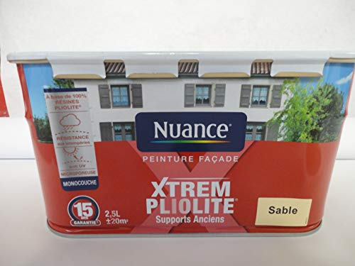 peinture façade pliolite monocouche 2,5L couleur sable marque nuance