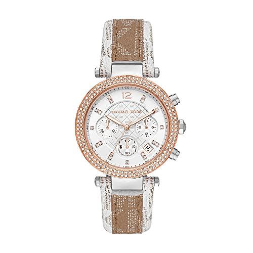 Michael Kors Womens Analog Quartz Uhr mit Plastic Armband MK6950