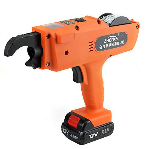 TFCFL Automatic Rebar Tying Machine, 8-34mm Handheld Rebar Tier Tool Building Tying Rebar Cutters & Benders (Orange) (Orange)