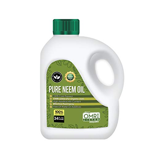 Pure Petra Neem Oil, 100% Cold Pressed, Ultra High Azadirachtin Content, Essential Oil for Skin, Hair and Nails, Leaf Polish, (No Additional Additives), OMRI Listed (34 Fl Oz)