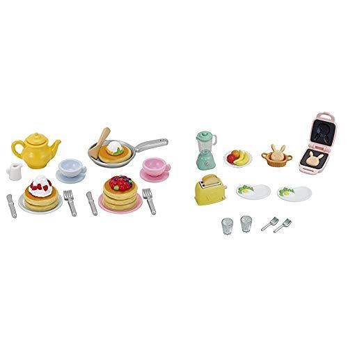 シルバニアファミリー 家具 ふわふわパンケーキセット カ-418 & シルバニアファミリー 家具 おいしい朝食セット カ-424【セット買い】