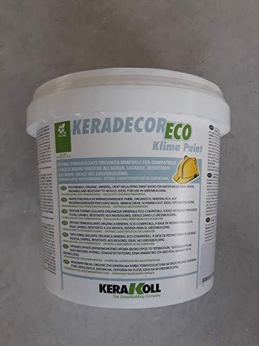 Kerakoll Keradecor Eco Klima Paint 4 Lt. Weiße Thermo-Isolierung mit biologischem Mineral Eco-Kompatibel