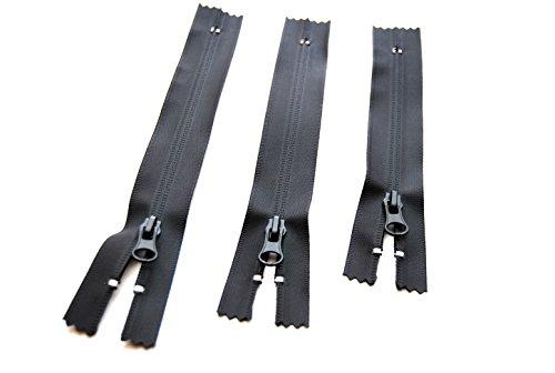 Nähen, reparieren: wasserdichter Outdoor Reißverschluß 16 18 oder 20 cm für Jackentaschen etc. TPU beschichtet schwarz matt (20 cm)