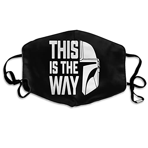 S-tar-W-ars This is The Way - Protección facial unisex, transpirable, antipolvo, reemplazable para esquiar