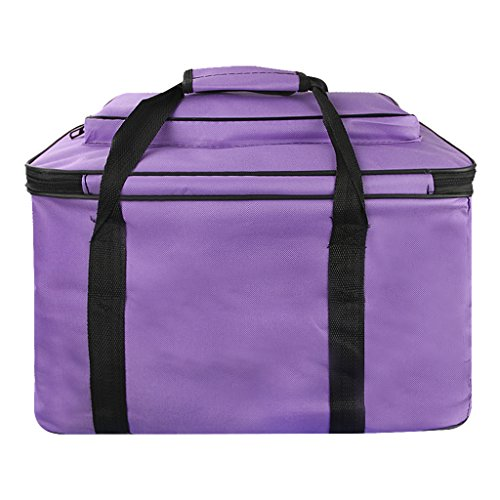 Large Fundamentals Art & Crafts Supplies Organizer Bag Padded Tote Adjustable Shoulder Bag Foldable Essentials Art Storage Cargo Carry Case for Brush Markers Pencils Sketchbook Watercolors Art Palette