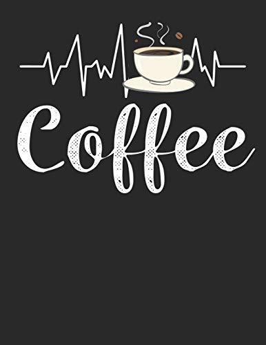 Kaffee Tasting Buch: Dein persönliches Verkostungsbuch zum selber ausfüllen ♦ für über 100 verschiedene Kaffeesorten ♦ Egal ob aus europäischen, ... A4+ Format ♦ Motiv: Kaffeetasse Puls