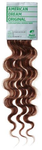 American Dream - A4/QFC12/18/33 - 100 % Cheveux Naturels - Douce Ondultation - Pièce Unique Extensions à Clipper - Couleur 33 - Cuivre Riche - 46 cm