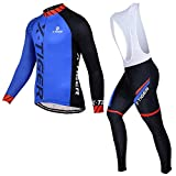 ZHJC Herren Winter Thermal Cycling Jersey Langarm Fleece Warm Winter Reiten Harnessanzug Outdoor...