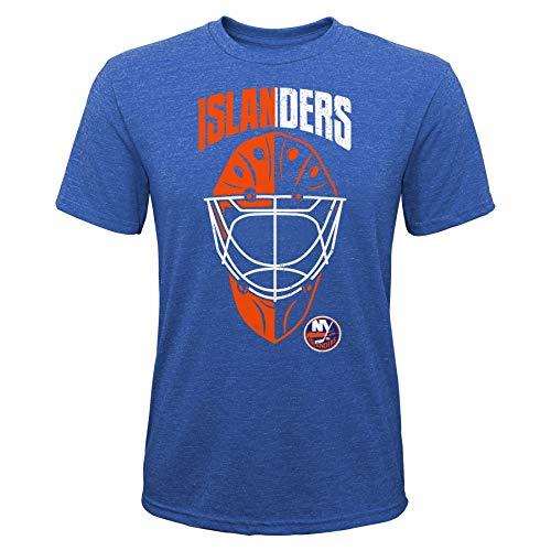 OuterStuff NHL Kinder T-Shirt New York Islanders NY Youth Mask Made Goalie Torwart Eishockey (S (8))