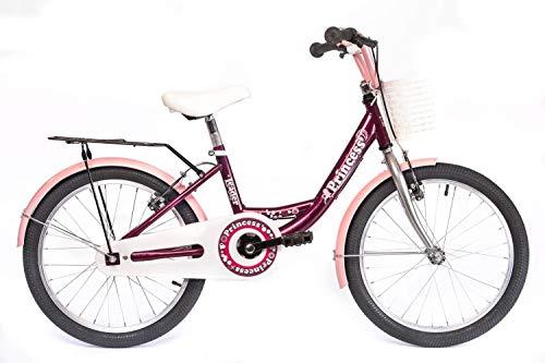 tretwerk DIREKT gute Räder Princess 20 Zoll Kinderrad, Mädchen-Fahrrad 1-Gang mit Korb