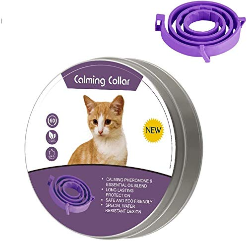 LUPUS Calming Collar for Cats and Dogs with Appeasing Effect, Adjustable Relieve Reduce Anxiety Pheromone Keep Pet Lasting Natural Calm Safe and Waterproof Calm Collar (15 inch for Cat)