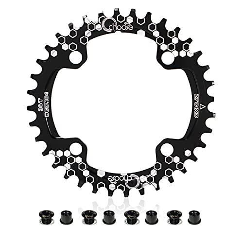 EASTERN POWER Corona 36T BCD 104, 36T Corona Singola per Bicicletta, Corona 36 Denti 104 mm MTB in Alluminio per Mountain Bike, Nero