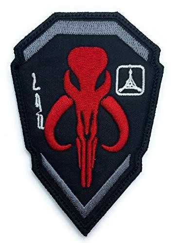 Mandalorian Boba Fett Emblem Star Wars Bounty Hunter - Funny Tactical Military Morale Embroidered Patch Hook Backing
