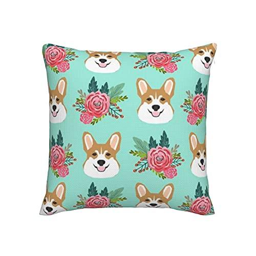 Corgi - Fundas de almohada para sofá, decoración del hogar, 45,7 x 45,7 cm