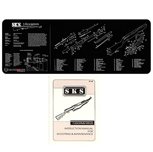 Ultimate Arms Gear Gunsmith & Armorer s Cleaning Work Tool Bench Gun Mat For The SKS 7.62x39mm Rifle + SKS Gun Instruction Technical Manual Book Official US Army Military Reproduction