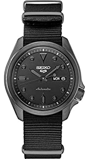Seiko Men's 5 Sports Stainless Steel Automatic Watch with Nylon Strap, Black, 22 (Model: SRPE69) (B087CD6797) | Amazon price tracker / tracking, Amazon price history charts, Amazon price watches, Amazon price drop alerts