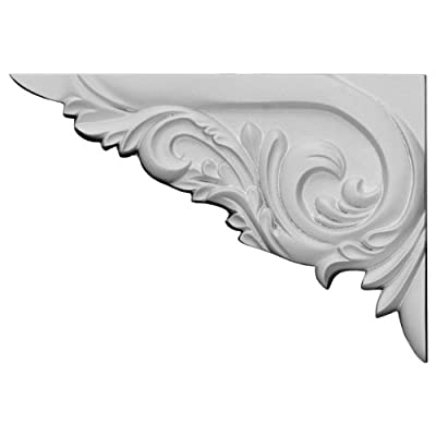 Ekena Millwork SB08X05TY-L 8 3/8-Inch W by 5 7/8-Inch H by 5/8-Inch D Tyrone Stair Bracket
