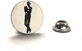 Williams and Clark Men's Executive Lapel Pin 007 Lapel pin Silver James Bond Poster Spy Tie Tac