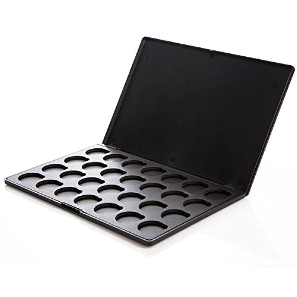 ウェブ証書証書カスタム化粧パレットケース (アイシャドウケース) | コースタルセンツ 正規品 (28色用 ブラック)