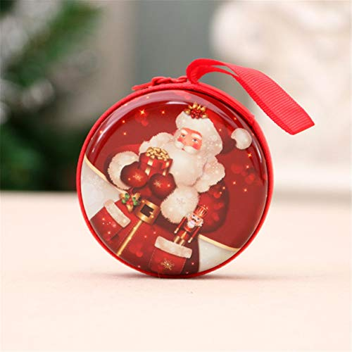 Detectorcatty ni Small Size Christmas Printed Coin Storage Bag Money Box for USB Cable Coin Holder Best Gifts Zipper Travel Organizer