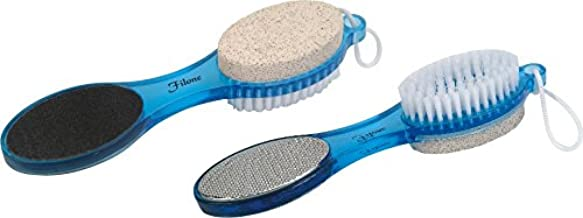 4 in 1 Foot File with Pedicure Brush - Blue - PD01B