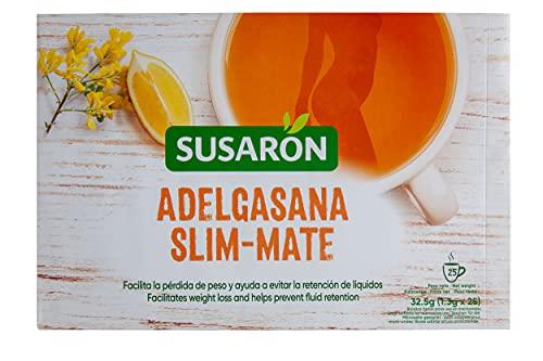 Infusión Adelgasana sabor limón con cola de caballo y sen Susarón - Facilita la pérdida de peso y ayuda a evitar la retención de líquidos - 25 bolsitas