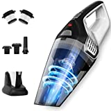 Handheld Vacuum Cleaner, 8.5KPa Powerful Hand Vacuum Cordless, Strong Suction Rechargeable Cord-Free Wet Dry Vacuum Cleaner, Charging Dock Car Vacuum Cleaner Cordless for Home Floor Stairs Pet Hair