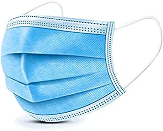 MSAAEX Disposable Face Mask for Air Pollution, Dustproof Mouth Cover, 3-ply Safety Mask (50)