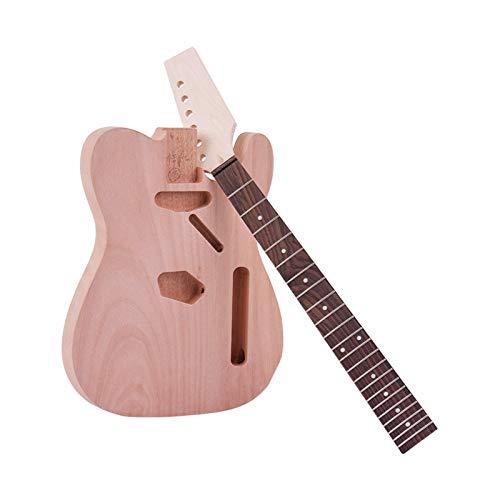DIY Componentes guitarra Cuerpo Sin terminar guitarra eléctrica DIY Kit TL Long...