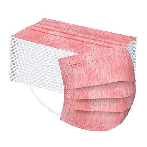 VCTKLN 50 unidades de 3 capas transpirables para boca, bandana para niños y niñas (rojo, rosa, azul) a Talla única