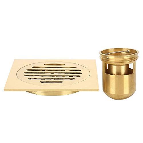 Quadratischer Duschbodenablauf 3,9-Zoll-Messing-Anti-Geruch-Bodenablauf-Haarsieb Hardware-Zubehör für Küche Badezimmer Toilette